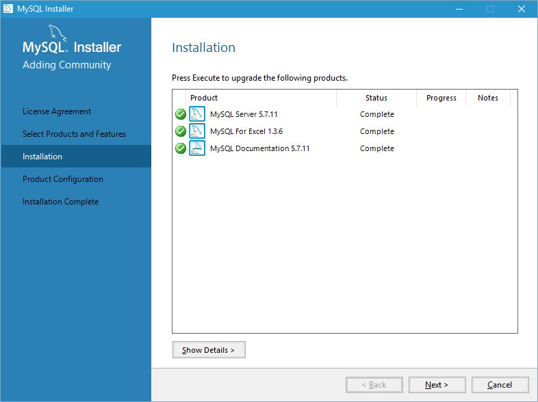install mysql on windows 10 step 4