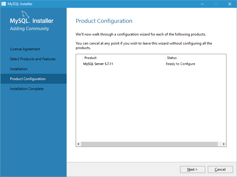 install mysql on windows 10 step 5