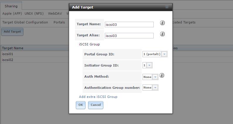 create iscsi target server freenas 5