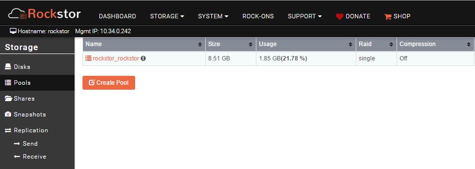 create storage pool on rockstor 1.png
