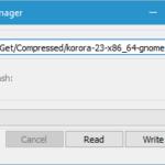 How to create Korora 23 Live USB on Windows 10