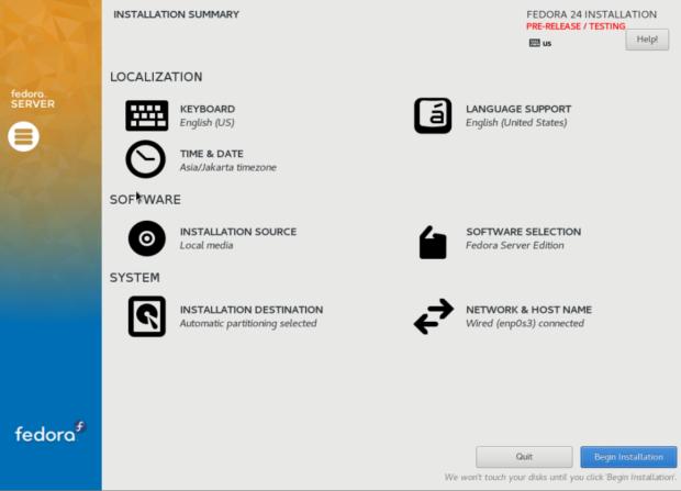 fedora 24 server install 5