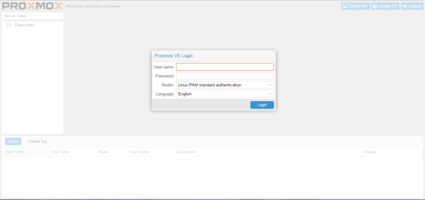 proxmox 4.2.2 screenshot 1