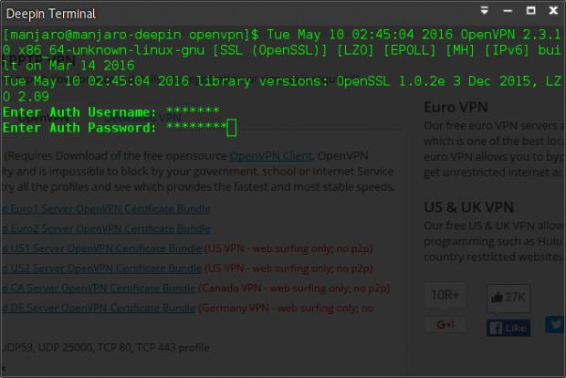 setting vpn gratis di linux 2