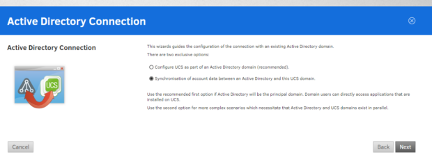 ucs active directory connection 1