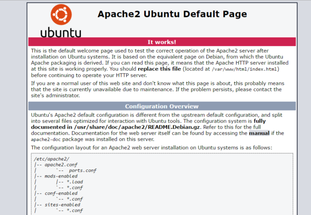 apache on ubuntu 16.04