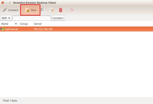 Remmina Remote Desktop Client ubuntu