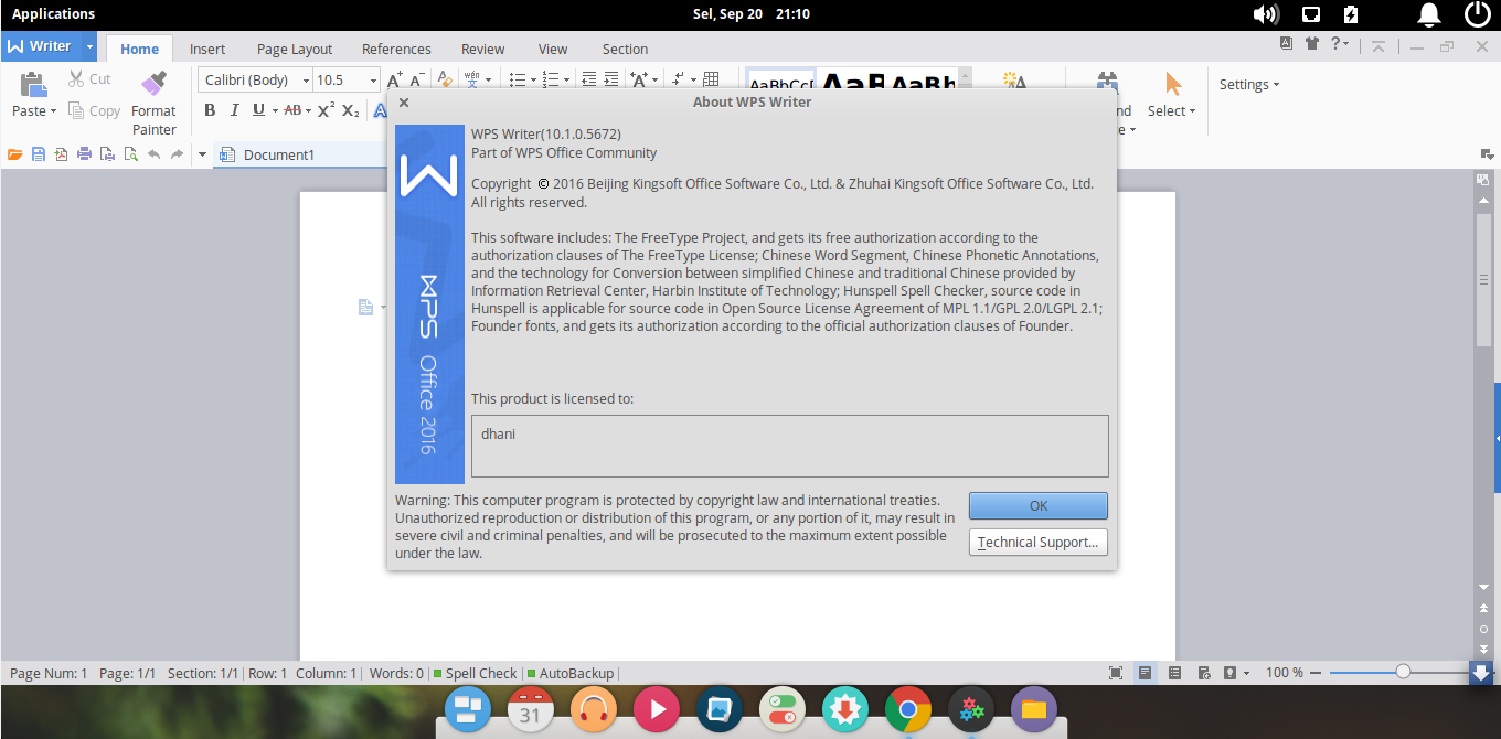 wps office on elementary os loki.png