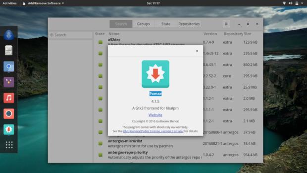pamac-software-manager-antergos