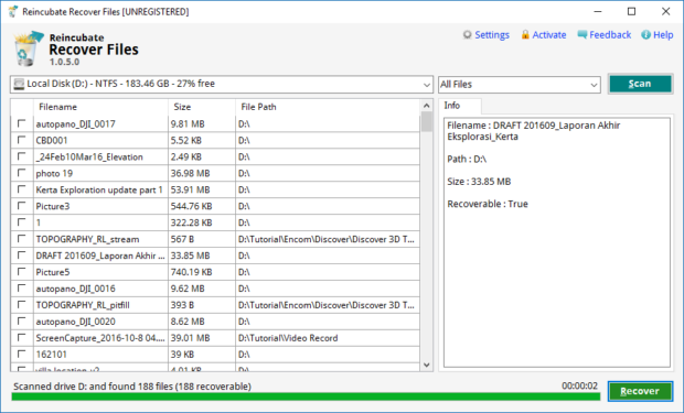 reincubate recover file