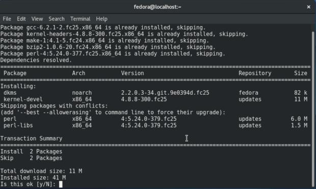 install-kernel-devel-on-fedora-25