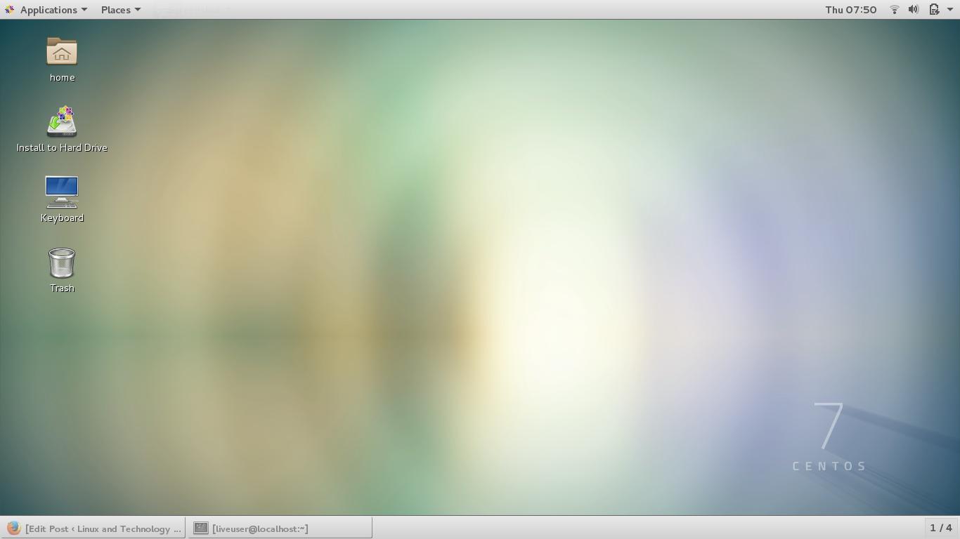 centos 7 screenshot 1 - Tutorial and Full Version Software