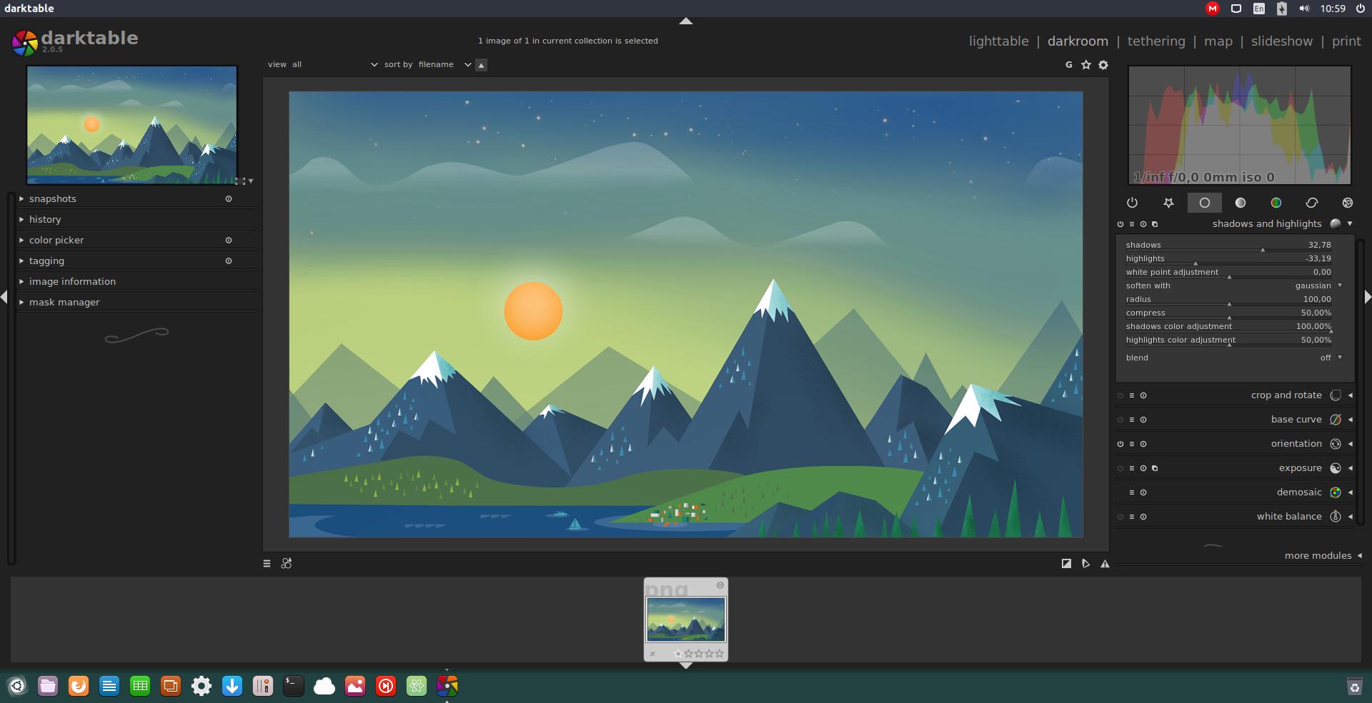 darktable on ubuntu 16.10.png