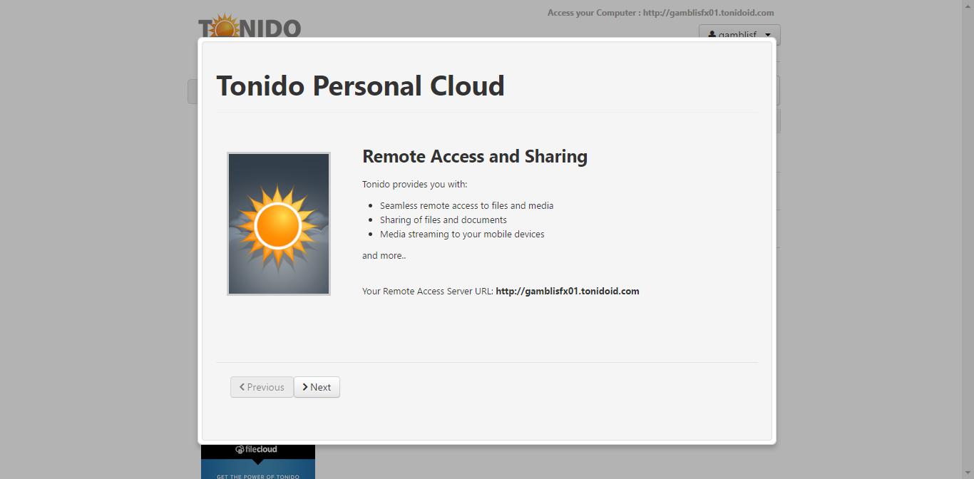 tonido on ubuntu 16.04 server 1.png