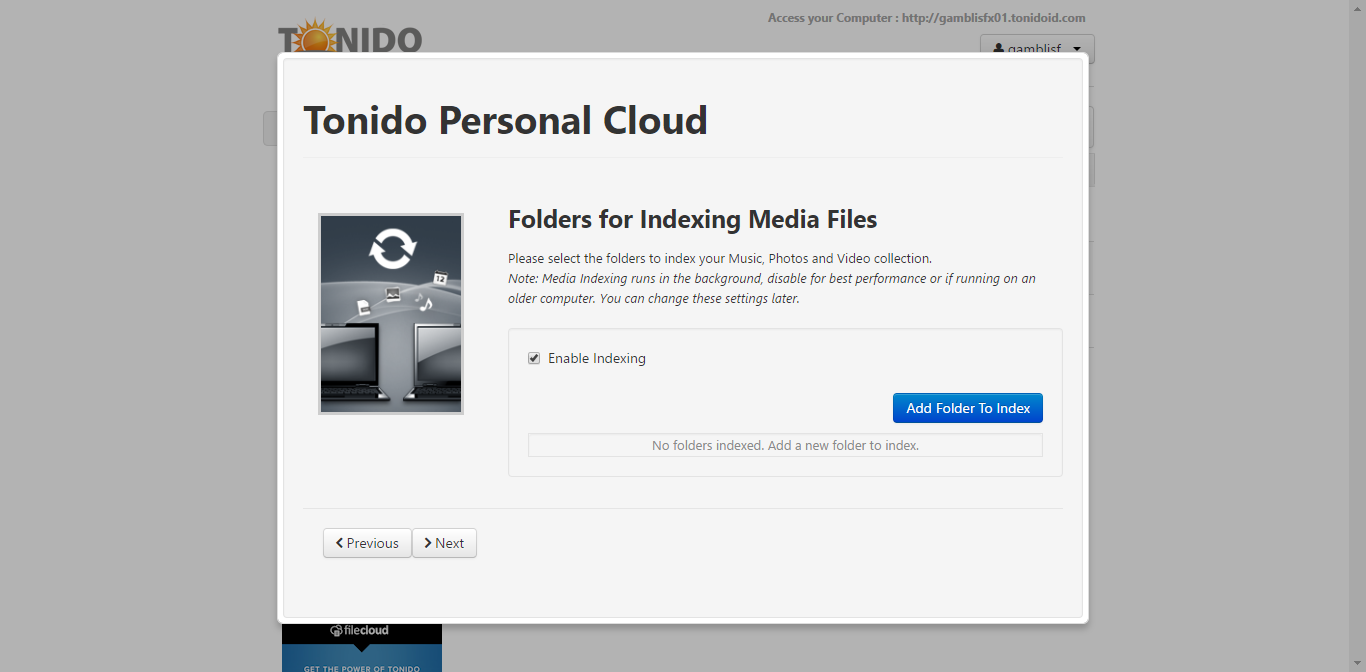 tonido on ubuntu 16.04 server 3.png